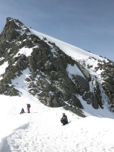 2016,残雪の奥穂高岳は感謝の山